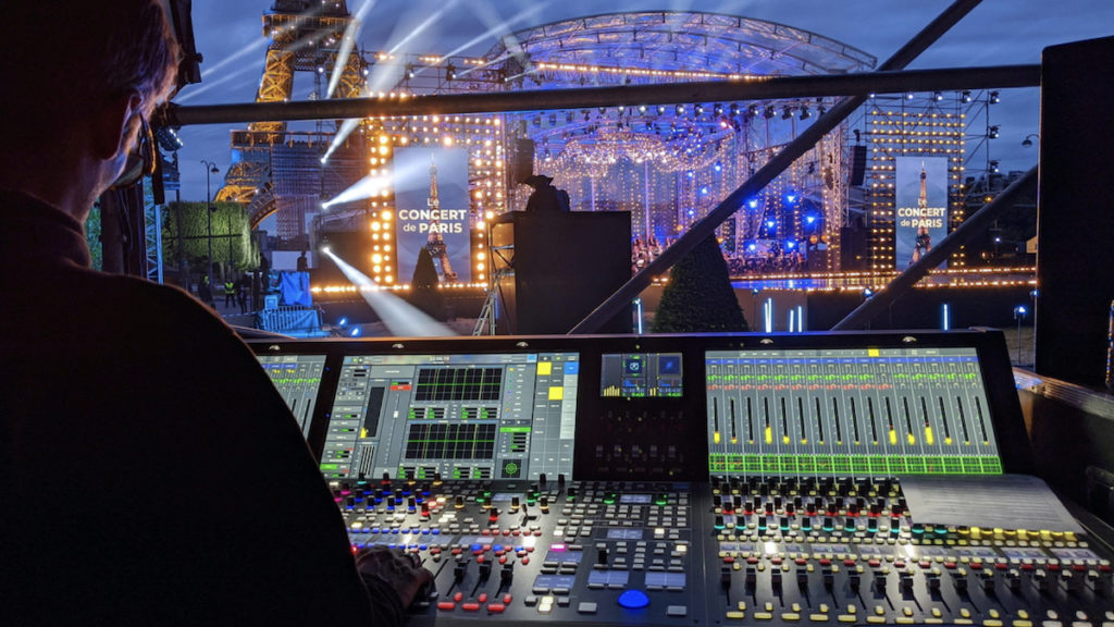 Concert de Paris Mixed with Lawo mc² Consoles ©DR