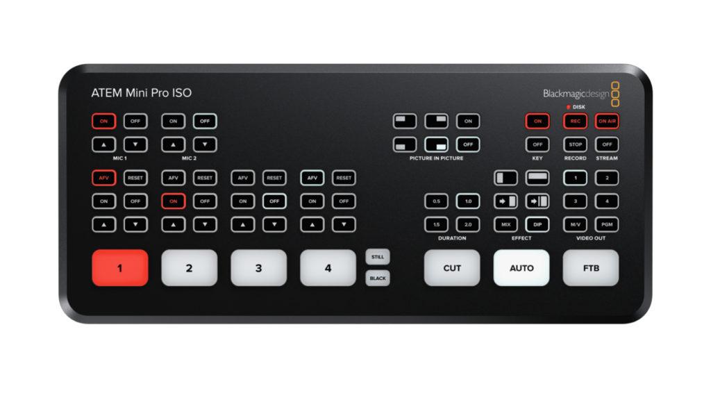 L'ATEM Mini Pro ISO, le mélangeur taillé pour la post production de directs © DR